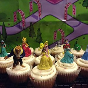12 Disney Princess Cupcake Toppers Party Decorations