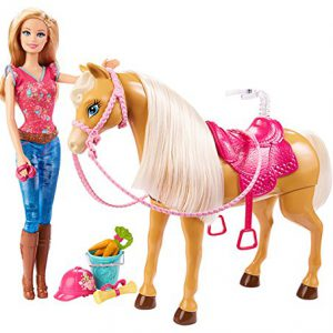 Barbie Feed & Cuddle Tawny Horse and Doll Playset
