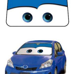 Cars Blue Disney Pixar Movie Car Truck SUV Front Windshield Sunshade - Accordion Style
