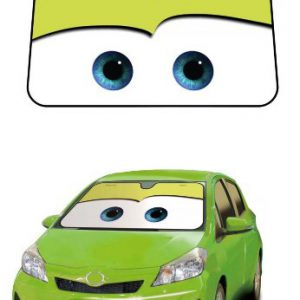 Cars Green Disney Pixar Movie Car Truck SUV Front Windshield Sunshade - Accordion Style