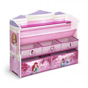 Delta Children Deluxe Book & Toy Organizer, Disney Princess