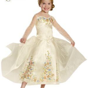 Disguise Cinderella Movie Wedding Dress Deluxe Costume, Medium (7-8)