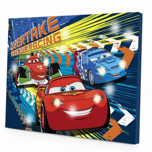 Disney Cars 3 LED Canvas Wall Art, 15.75-Inch x 11.5-Inch