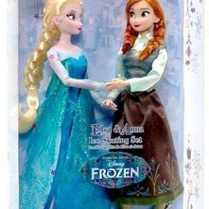 Disney Frozen 11 Inch Doll Set Elsa & Anna Ice Skating Set