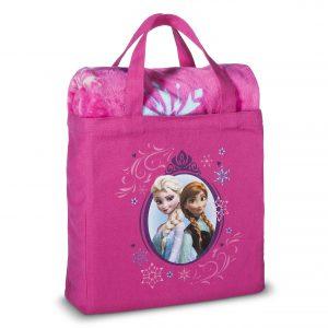 Disney Frozen 2 Piece Silk Touch Throw & Canvas Tote Set - Pink