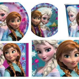Disney Frozen Elsa and Anna Birthday Party Pack Supply Bundle Set Kit for 16 Guest