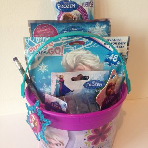 Disney Frozen Princess Elsa & Anna Bucket of Fun Set Perfect for Easter Basket, Birthday Gift, or any other Special Occassion