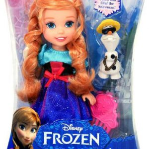 Disney Frozen, Young Anna and Olaf Toddler Doll, 6 Inches