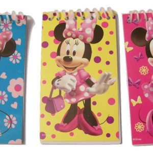Disney Minnie Mouse Bow-tique 6 Mini Notebooks ~ Minnie on Pink, Blue, Yellow