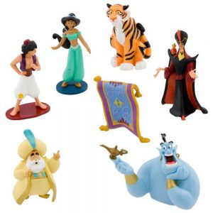 Disney Parks Exclusive Aladdin Princess Jasmine Figurine 7 Pc. Playset