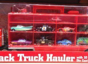 Disney Parks Pixar Cars Mack Truck Hauler Semi with 10 Diecast Cars NEW IN BOX