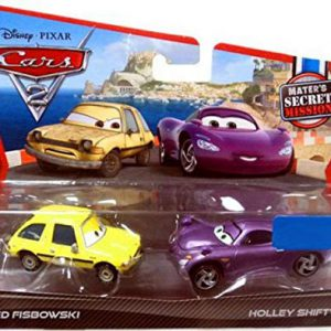 Disney / Pixar CARS 2 Movie Exclusive 155 Die Cast Car 2Pack Fred Fisbowski Holley Shiftwell Maters Secret Mission