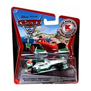 Disney / Pixar CARS 2 Movie Exclusive 155 Die Cast Car SILVER RACER Francesco Bernoulli by Mattel