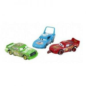 Disney / Pixar CARS Movie 1:55 Die Cast Car Race-O-Rama 3-Car Gift Pack The King, Finish Line Lightning McQueen and Chick Hicks
