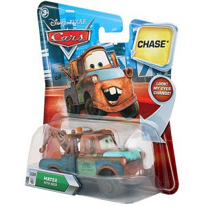Disney / Pixar CARS Movie 155 Die Cast Car with Lenticular Eyes Series 2 Mater with Hood Chase Piece!