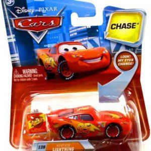 Disney / Pixar CARS Movie 155 Die Cast Car with Lenticular Eyes Series 2 RustEze Lightning McQueen Chase Piece!