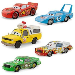 Disney / Pixar CARS Movie Exclusive 1:43 Die Cast Car 5-Pack Piston Cup [Lightning McQueen, Chick Hicks, Pizza Planet Van, Darrell Cartrip, and The King]