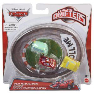 Disney Pixar Cars Micro Drifters Race Team Fillmore, Ramone and Cruisin' Lightning McQueen, 3-Pack