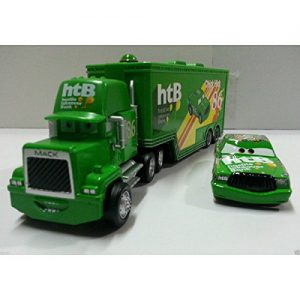Disney Pixar Cars No.86 Mack Racer's Truck & Chick Hicks Toy Car 1:55 Loose New Remote Control Toys Parts