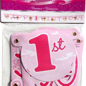 Disney Princess 1st Birthday Party Banner (8 x 5)