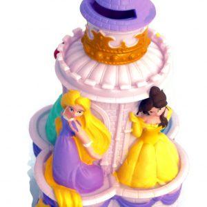 Disney Princess Castle Bank - Featuring Rapunzel, Belle, Ariel and Cinderella