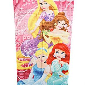 Disney Princess Cinderella Belle Ariel Rapunzel Beach Towel Printed Velour