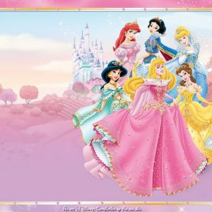 Disney Princess Cinderella Snow White Edible Cake Topper Frosting 1/4 Sheet Birthday Party