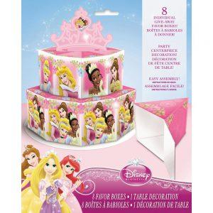 Disney Princess Favor Box Centerpiece Decoration for 8