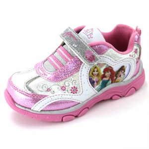 Disney Princess Girls Pink Lighted Sneakers Shoes
