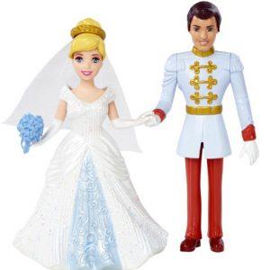 Disney Princess Little Kingdom Magiclip Cinderella Fairytale Wedding Dolls