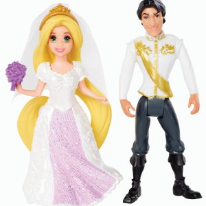 Disney Princess Little Kingdom Magiclip Rapunzel Fairytale Wedding Dolls
