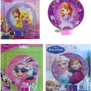 Disney Princess Night Light Deluxe Pack featuring Belle, Rapunzel, Minnie Mouse, Anna and Elsa