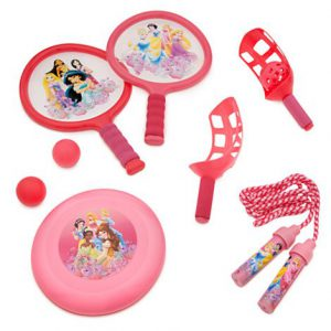 Disney Princess Sports Bag with Paddle Ball, Jump Rope and Flying Disc & Carry Bag!