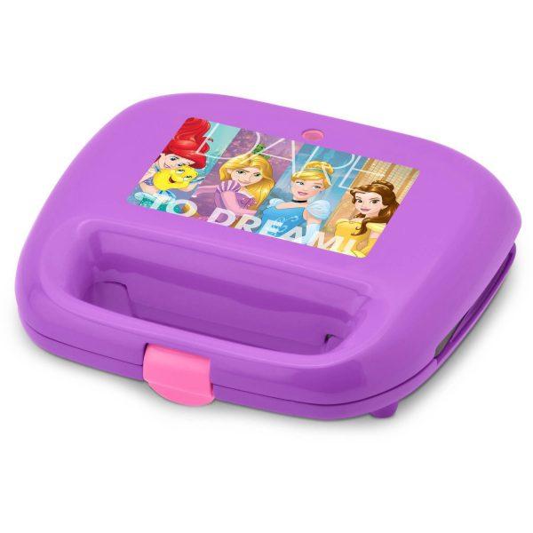Disney Princess Waffle Maker Makes One Castle and One Crown Waffle (Purple)