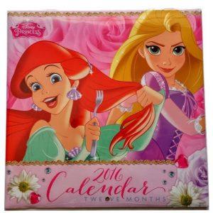 Disney Princesses Gift Set Calendar Notebook Pad Pen Ariel Tiana Cinderella Belle