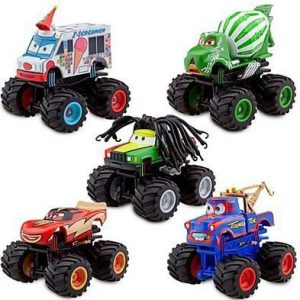 Disney Store Cars Toon Deluxe Monster Truck Mater Figure Set Rolling Wheels by Lgp