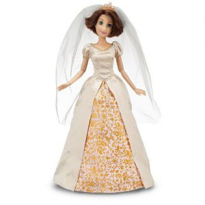 """Disney Store Exclusive Disney Princess Classic Doll Collection Tangled Ever After Rapunzel 12"""" Doll in Wedding Gown"""