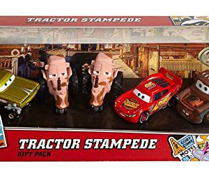 Disney/Pixar Cars, Radiator Springs Classic, Tractor Stampede Die-Cast Vehicle Gift Pack [Lightning McQueen, Mater, Yellow Hydraulic Ramone, and 2 Tractors]