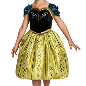 Disneys Frozen Anna Coronation Gown Classic Girls Costume, Small/4-6x