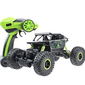 DraWaoy 1: 18 Scale RC Car, Electric Remote Control Off Road Truck, 4WD 2.4Ghz Radio Controlled Car High Speed Racing Truck Toy (Blue)