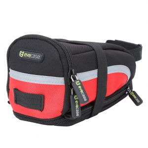 Evecase Bike Saddle Bag Bicycle Strap-On Under Seat Post Trail Pouch Bag Cycling Case - Black