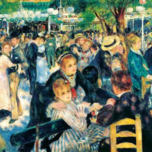 Japan Official Jigsaw Puzzle - Dance at Le moulin de la Galette (Bal du moulin de la Galette) 300 pcs Pieces Classic Painting by Pierre Auguste Renoir French Impressionist Oil Canvas Beverly