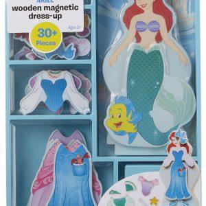 Melissa & Doug Disney Ariel Magnetic Dress-Up Wooden Doll Pretend Play Set (30+ Pieces)