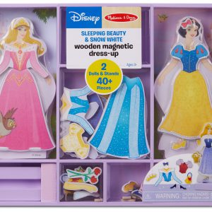 Melissa & Doug Disney Sleeping Beauty and Snow White Magnetic Dress-Up Wooden Doll Pretend Play Set (40+ pcs)