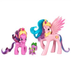 My Little Pony Friendship is Magic 3 Pack Royal Castle Friends With Twilight Sparkle, Spike The Dragon, and Princess Celestia