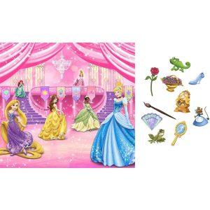 New Art DISNEY PRINCESS SCENE SETTER Birthday Party Wall Decoration BACKDROP Photo Props