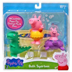 Peppa Pig, George and Dinosaur Bath Squirters