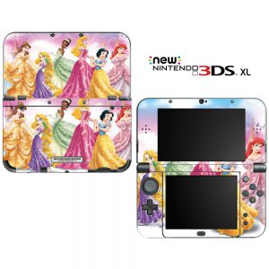 """Princess Friends Sparkle Belle Rapunzel Tiana Decorative Video Game Decal Skin Sticker Cover for the """"New"""" Nintendo 3DS XL (2015-2017 Edition)"""