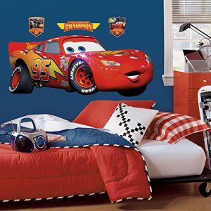 RoomMates Disney Pixar Cars Lightening Mcqueen Peel and Stick Giant Wall Decal