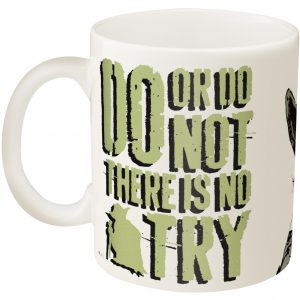 Zak Designs SWRA-8510 Star Wars Coffee Mugs, Medium Ceramic, Ep4 Yoda M